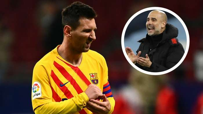 Lionel Messi Pep Guardiola 2020-21