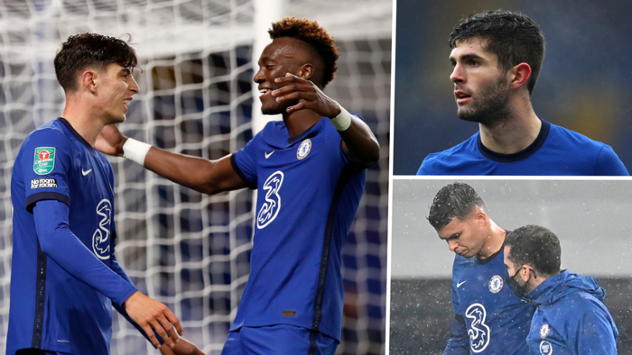 Tammy Abraham, Kai Havertz, Christian Pulisic and Thiago Silva
