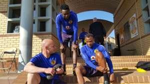 Darren Lurie and Tsepo Masilela and Erick Mathoho - Kaizer Chiefs