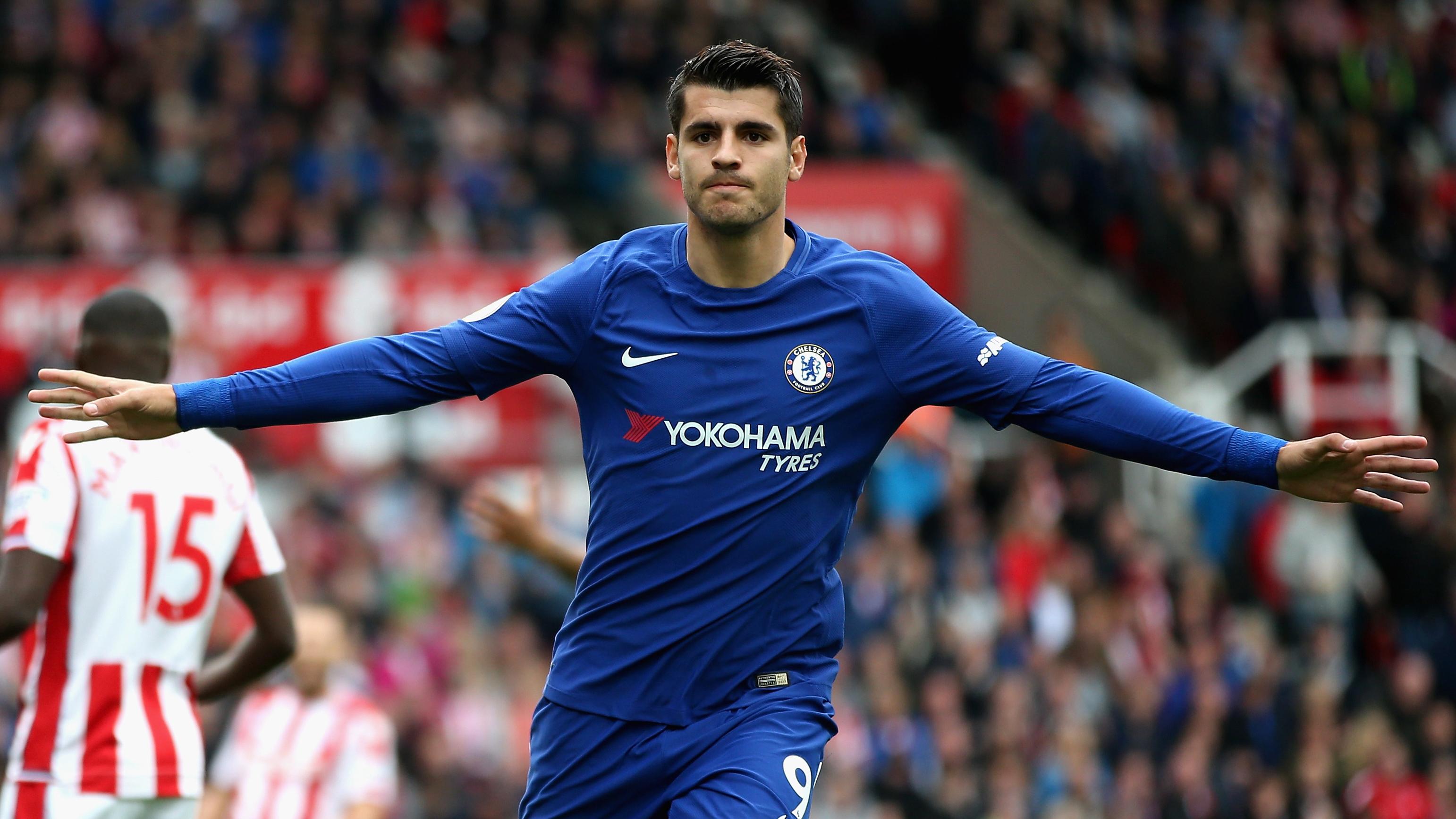 Alvaro Morata Chelsea Stoke City