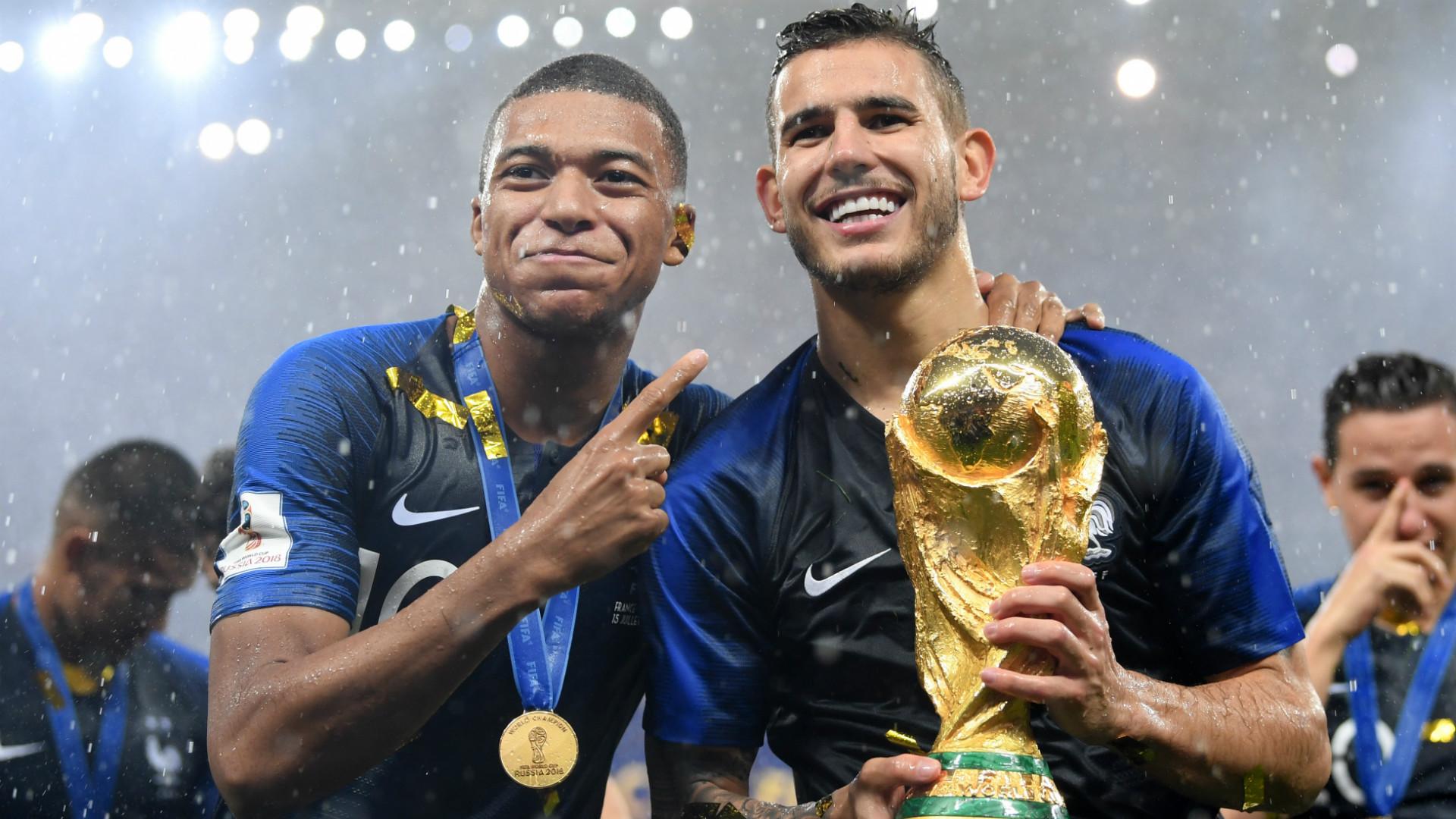 Kylian Mbappe Lucas Hernandez France World Cup 2018