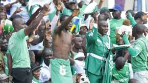Gor Mahia fans vs AFC Leopards during derby.