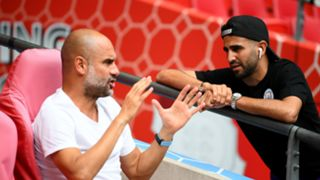 Pep Guardiola, Riyad Mahrez - Manchester City