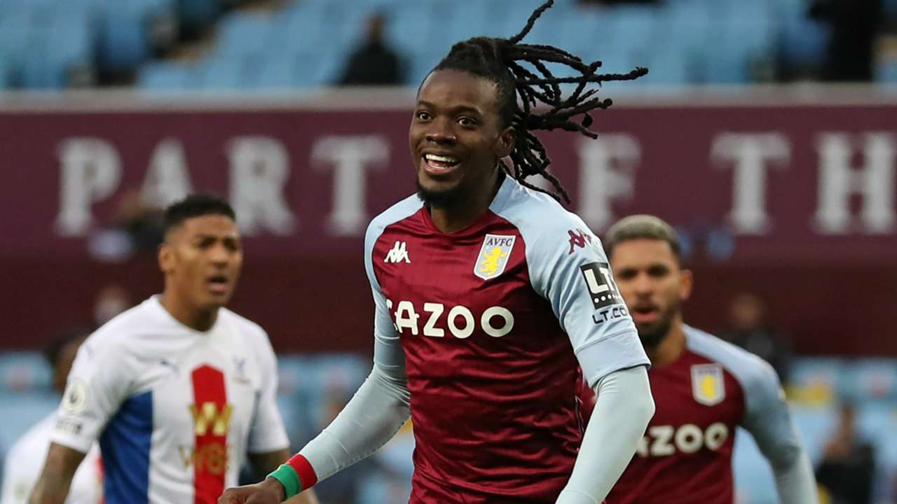 Bertrand Traore Aston Villa vs Crystal Palace Premier League 2020-21