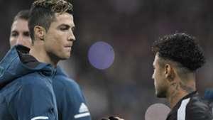 Cristiano Ronaldo Neymar Real Madrid PSG Champions League 14022018