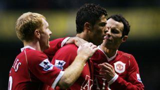 Cristiano Ronaldo Paul Scholes Ryan Giggs Manchester United