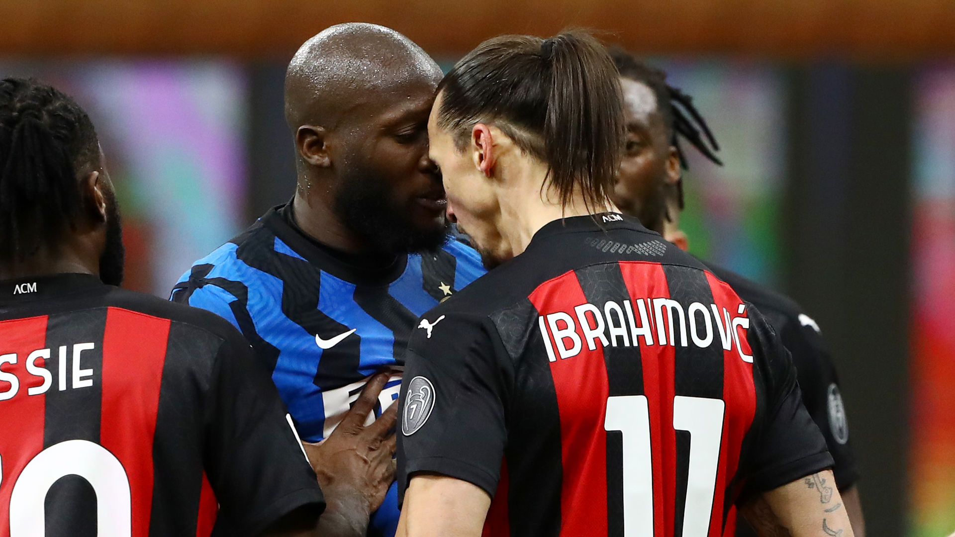 Ibrahimovic denies using racist language in on-field spat with Lukaku in Inter vs AC Milan derby clash
