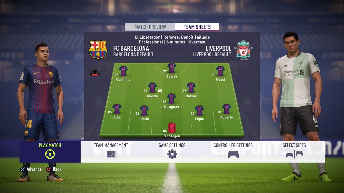 FIFA 18 Barcelona Coutinho