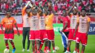 Simba SC players led by Meddie Kagere.