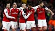 Arsenal celebrate vs CSKA