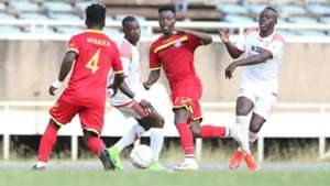 John Ndirangu of Mount Kenya United v Ulinzi Stars.
