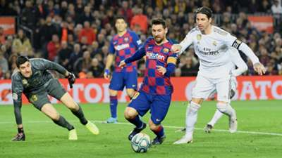 Lionel Messi Sergio Ramos Thibaut Courtois FC Barcelona Real Madrid Clasico 18122019