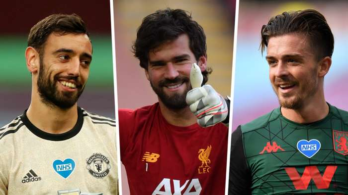 Bruno Fernandes Alisson Jack Grealish