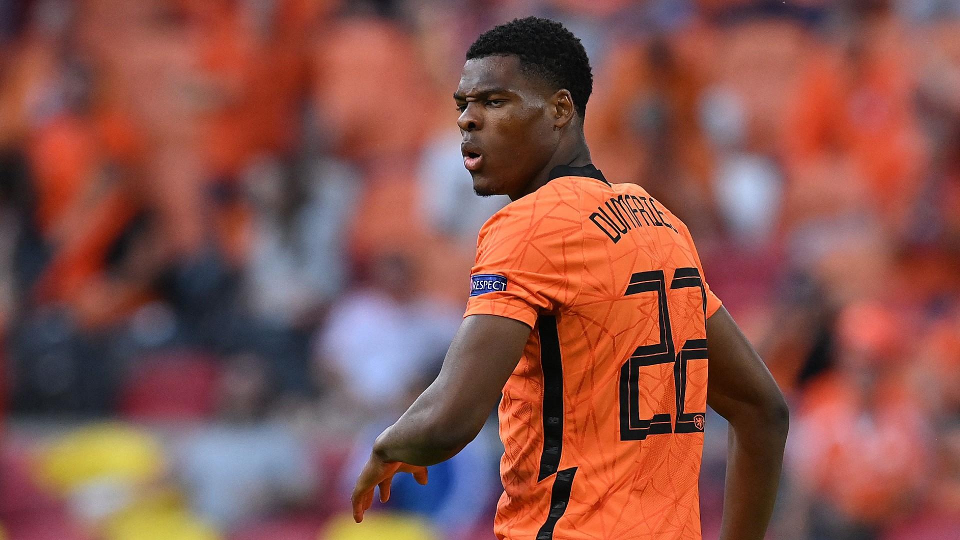 Netherlands star Dumfries responds to transfer talk amid impressive Euro 2020
