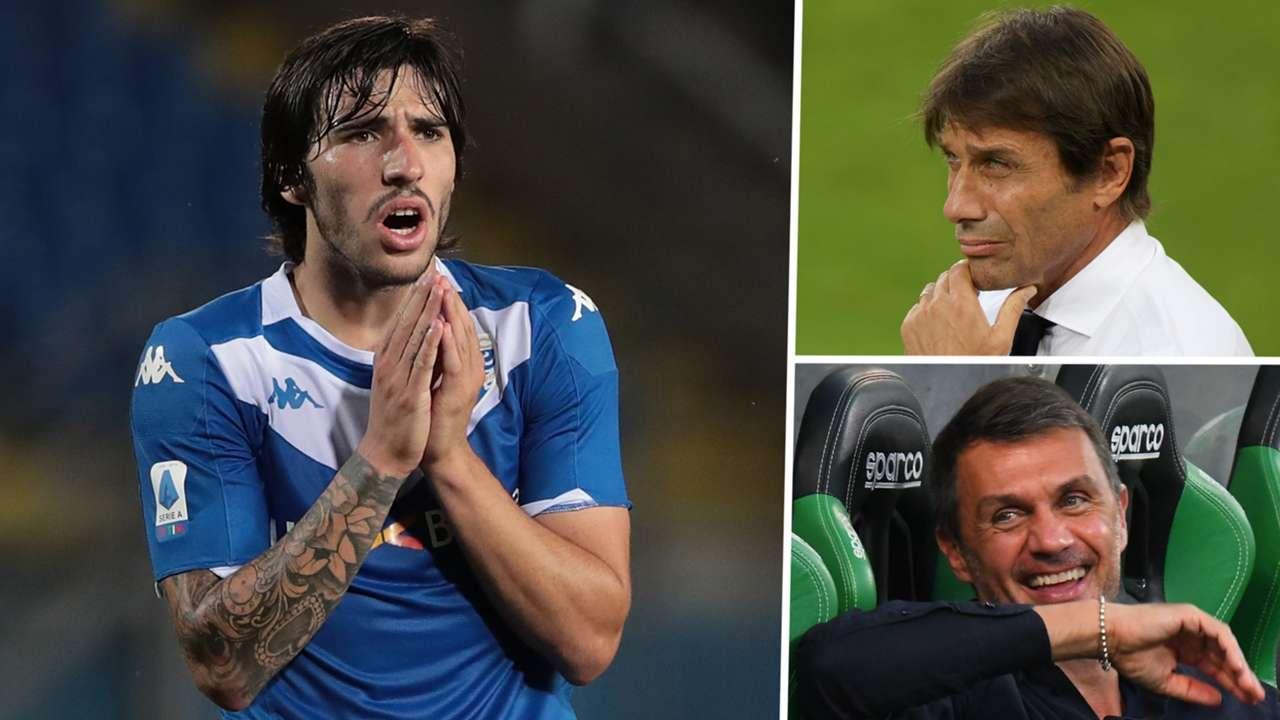 Sandro Tonali Antonio Conte Paolo Maldini Brescia Inter AC Milan GFX