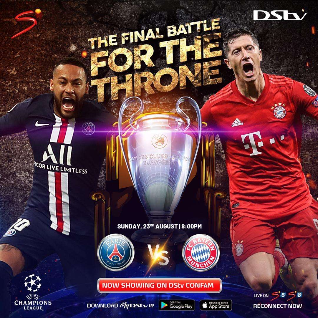 Champions League Final 2020 Watch Bayern Vs Psg Live On Dstv Goal Com