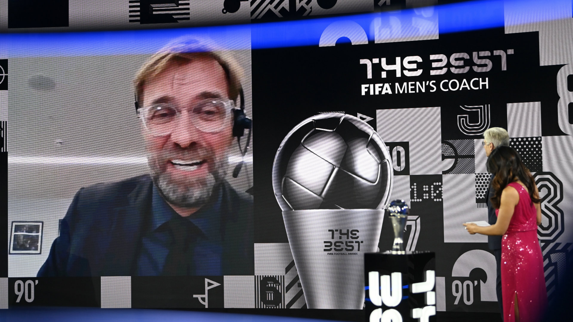 Klopp named The Best FIFA Men's Coach for the second time as Liverpool boss beats Flick and Bielsa to award