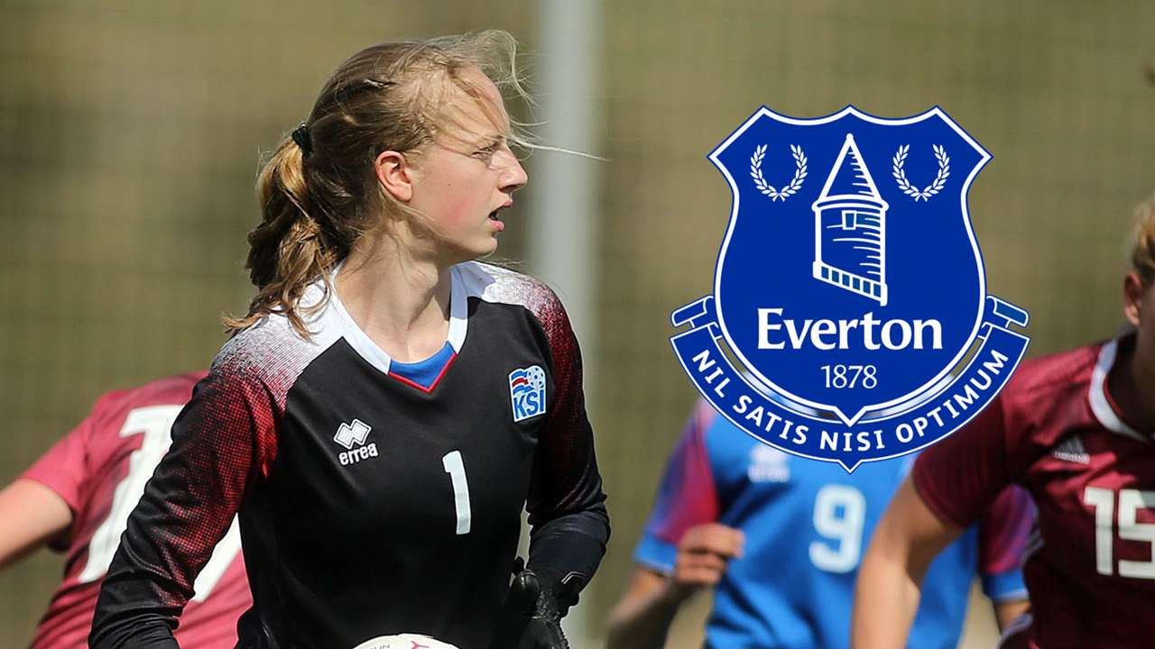 Cecilia Ran Runarsdottir Iceland Women Everton composite