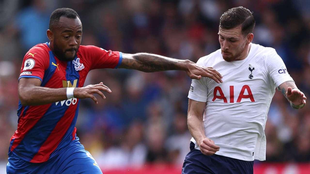 Jordan Ayew Pierre-Emile Hojbjerg Crystal Palace Tottenham 2021-22