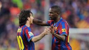 Lionel Messi Eric Abidal FC Barcelona