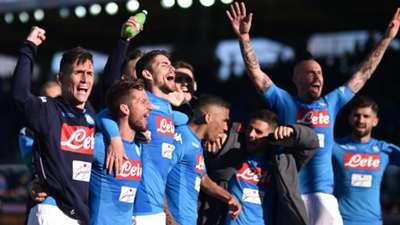 Napoli celebrating Serie A