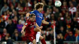 Xherdan Shaqiri David Luiz Liverpool Chelsea League Cup 26092018