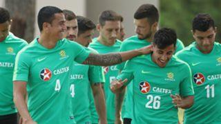 Tim Cahill Daniel Arzani Socceroos