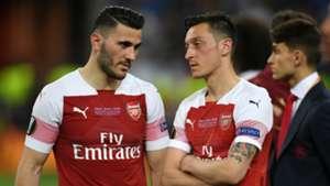 Sead Kolasinac Mesut Ozil Arsenal 2018-19