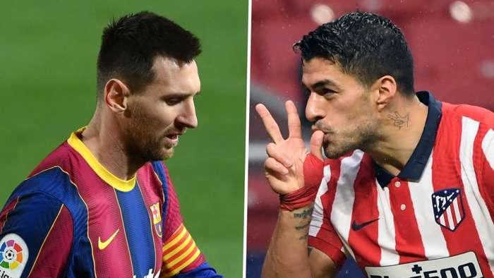 Luis Suarez Atletico Madrid Lionel Messi Barcelona GFX