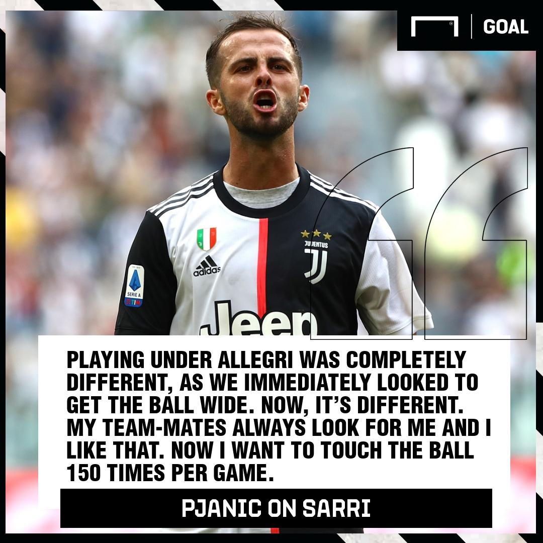 Miralem Pjanic Allegri Sarri Juventus PS