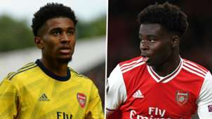 Reiss Nelson Bukayo Saka Arsenal Premier League 2019-20