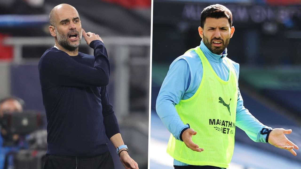 Sergio Aguero Pep Guardiola Manchester City GFX