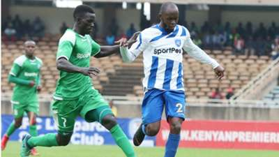 Innocent Wafula of Gor Mahia v Whyvonne Isuza of AFC Leopards.