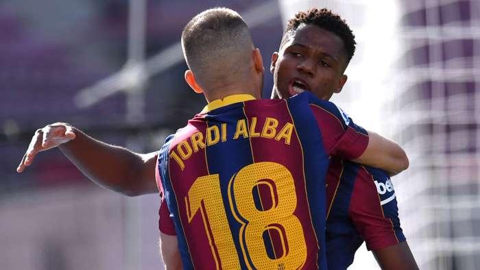 Jordi Alba Ansu Fati Barcelona Real Madrid 2020-21
