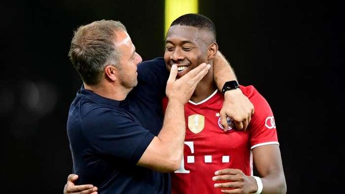 Hansi Flick David Alaba Bayern Munich DFB-Pokal 2019-20