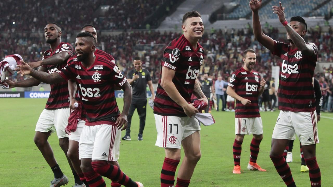 Comemoração Flamengo Emelec Libertadores 31072019