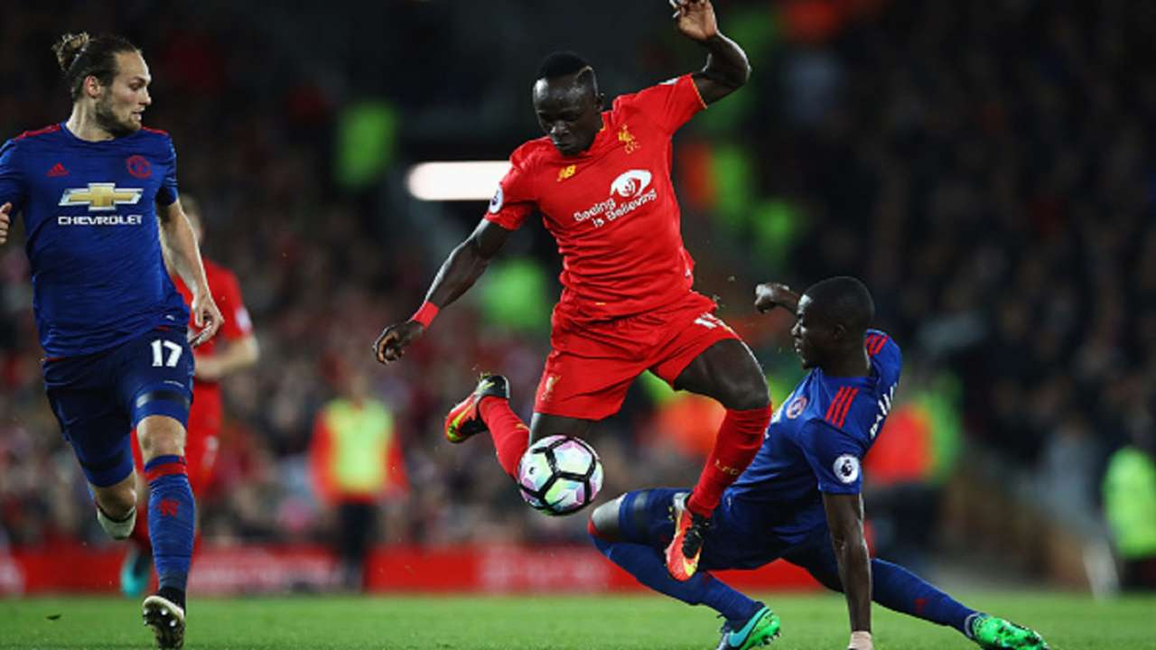 Sadio Mane Eric Bailly Liverpool Manchester United