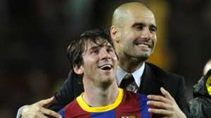 Lionel Messi Pep Guardiola Barcelona 2010-11