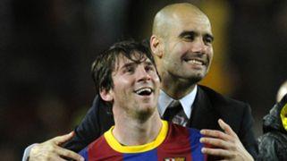 Lionel Messi Pep Guardiola Barcelona 2010-11