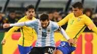 Argentina Brazil Lionel Messi Thiago Silva 2014