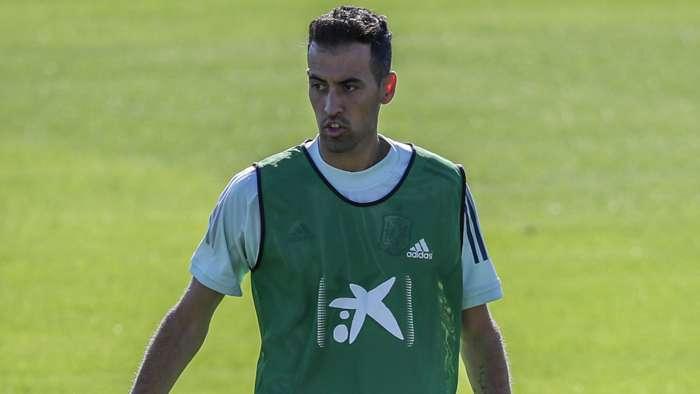 Sergio Busquets, Spain training