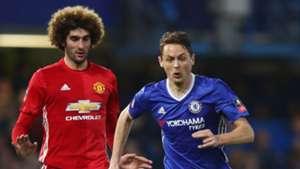 Marouane Fellaini Nemanja Matic Manchester United Chelsea 13032017