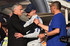 Jose Mourinho Maurizio Sarri Chelsea Manchester United Premier League 10/20/18