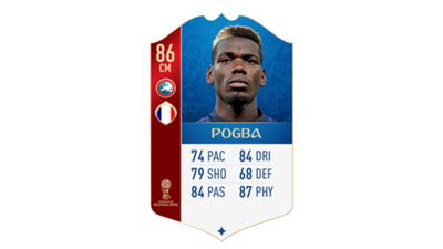 FIFA 18 World Cup France Pogba