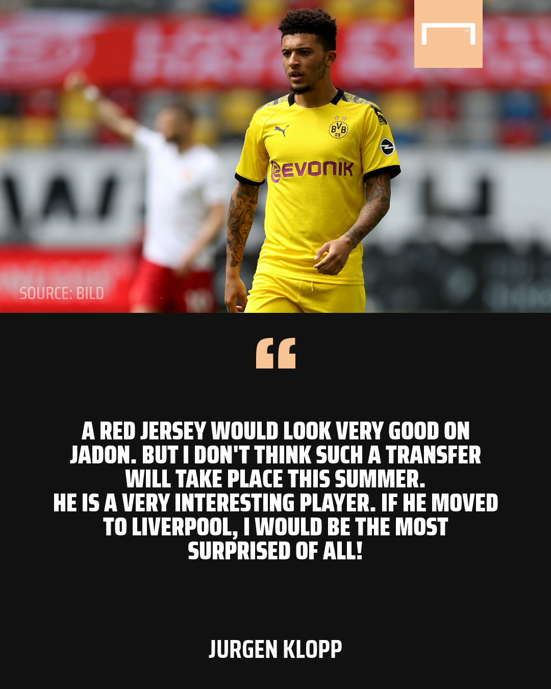 Klopp rules out Liverpool move for Sancho but admits Dortmund star ...