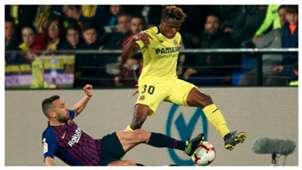 Samu Chukwueze Jordi Alba Villarreal Barcelona LaLiga