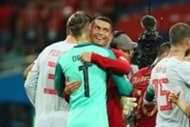 Cristiano Ronaldo David De Gea Spain Portugal World Cup 2018