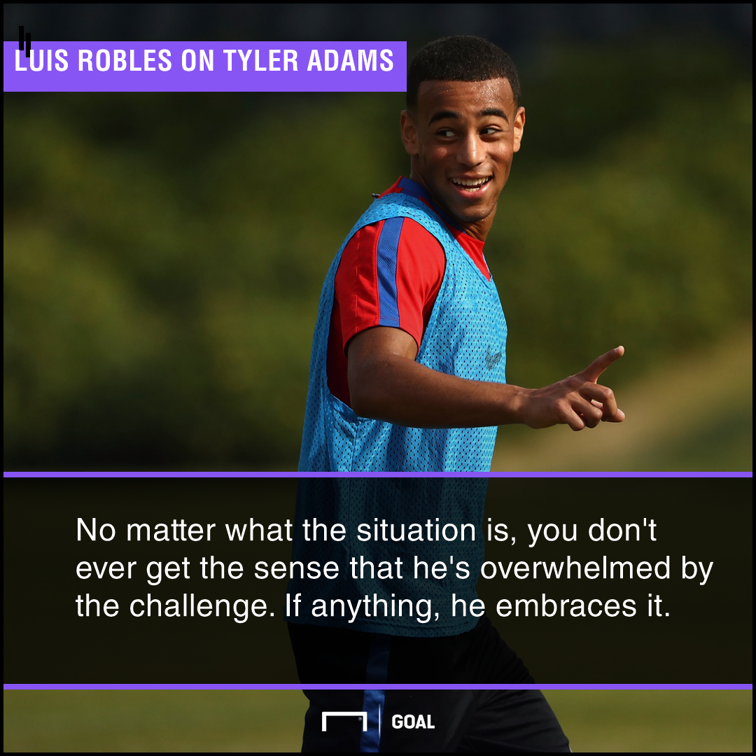 GFX Quote PS Luis Robles on Tyler Adams