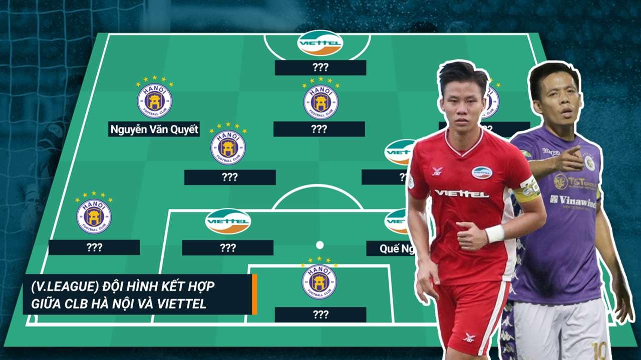 Đội hình kết hợp Hà Nội và Viettel