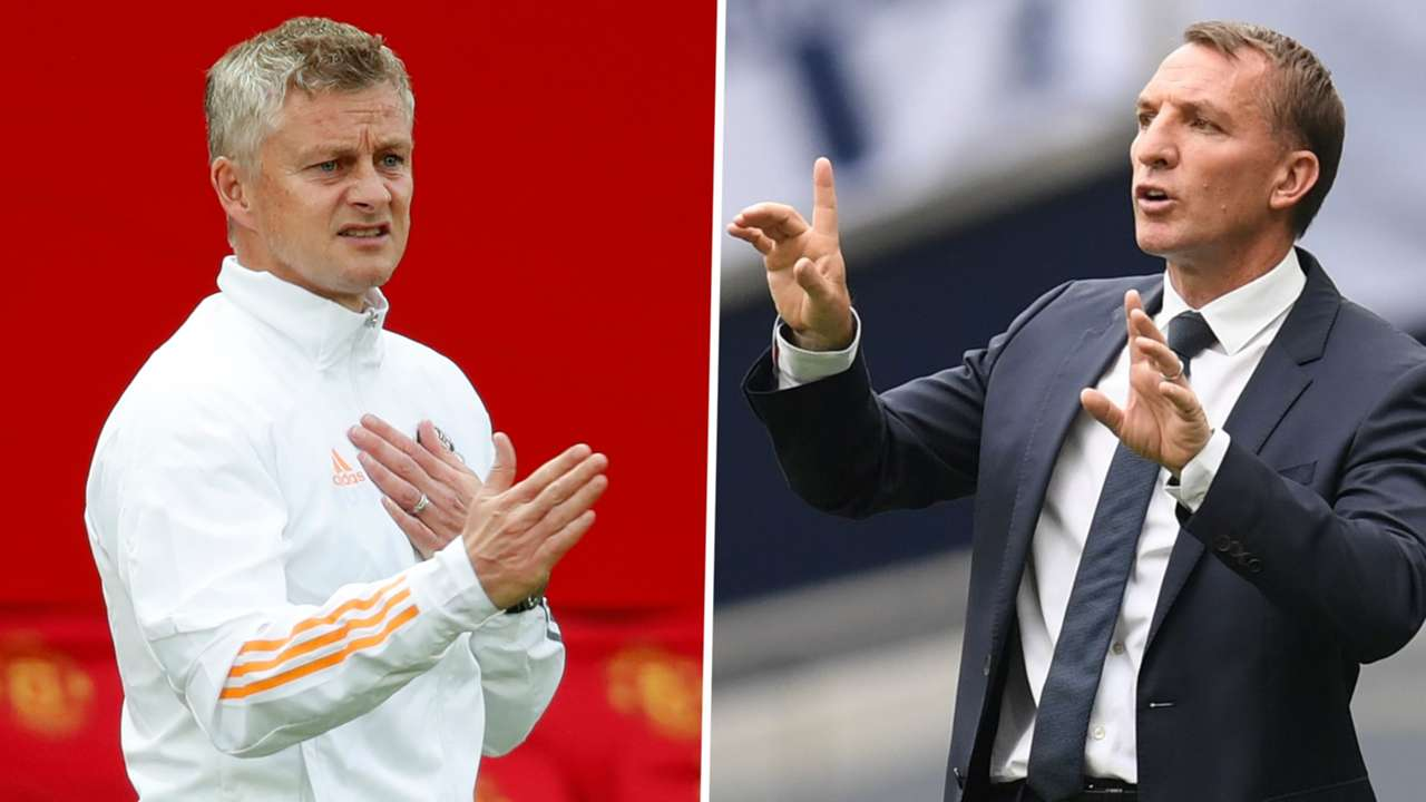 Ole Gunnar Solskjaer Brendan Rodgers Manchester United Leicester 2019-20 GFX